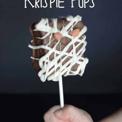 Mummy Rice Krispie Pops