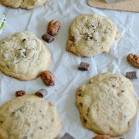 Pecan praline chocolate chip cookies