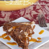 Pumpkin Cheesecake Skillet Brownies