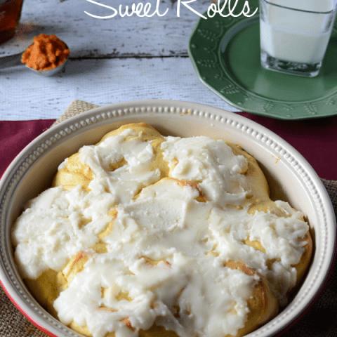 Pumpkin Cheesecake Sweet Rolls