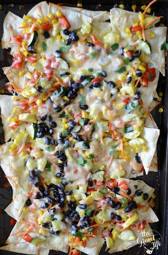 Roasted vegetable nachos