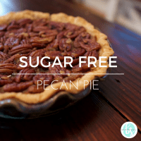Sugar free pecan pie