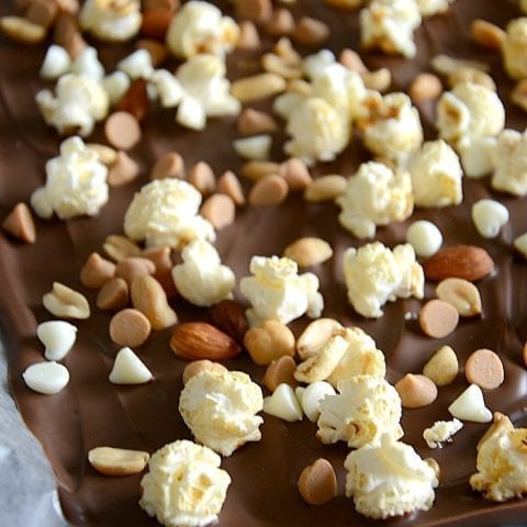 Sweet and salty popcorn bark