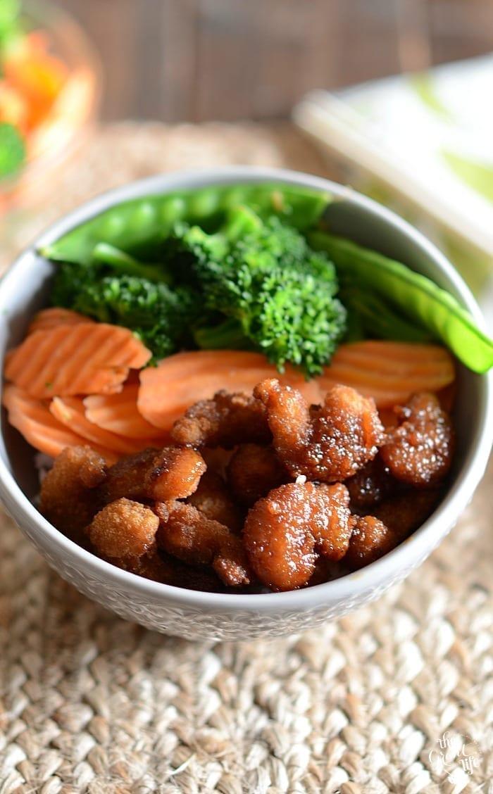 Shrimp teriyaki bowls
