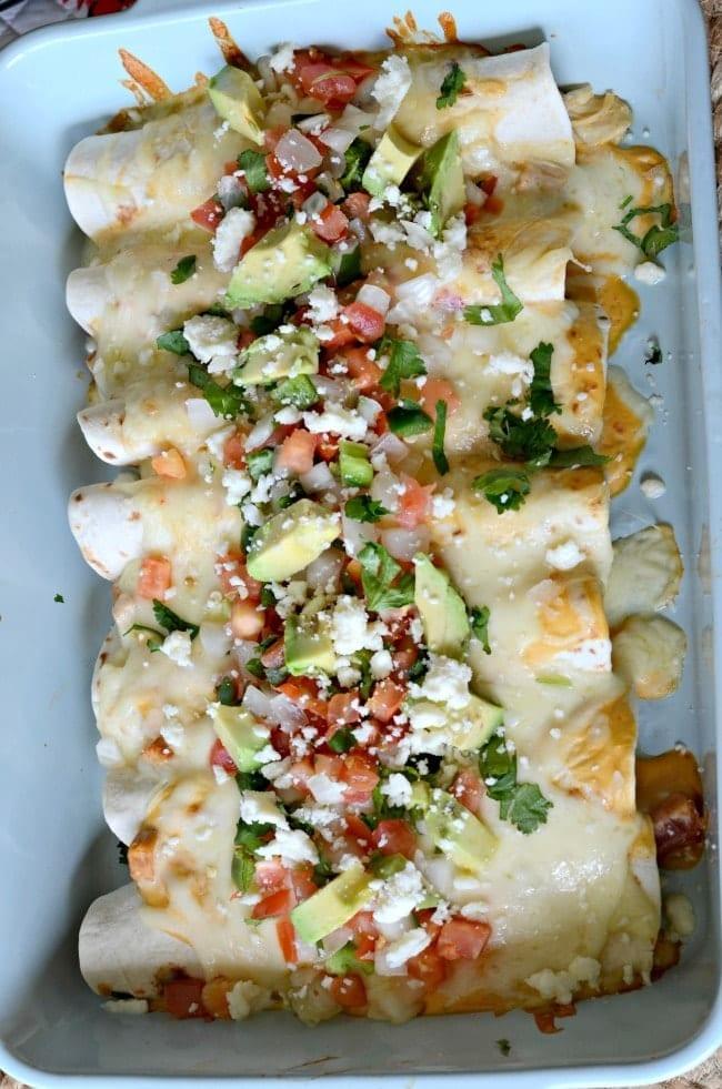 Cheesy Chicken Enchiladas Mom Makes Dinner