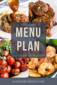 December menu plan