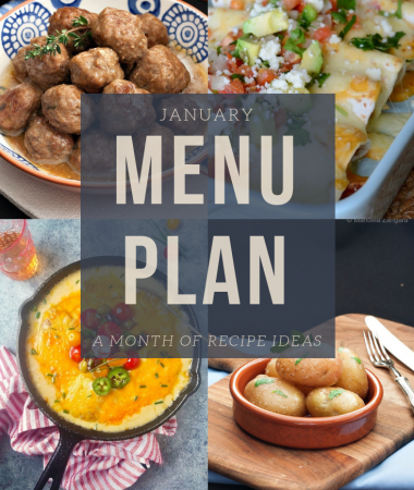 January menu plan