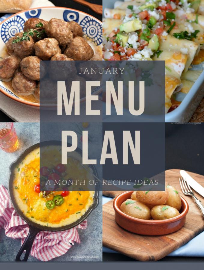 January menu plan