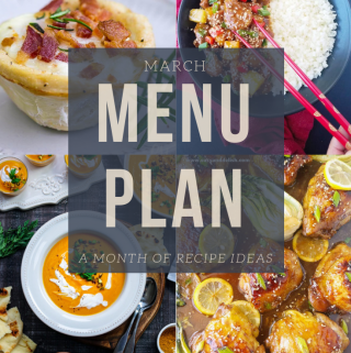 March menu plan