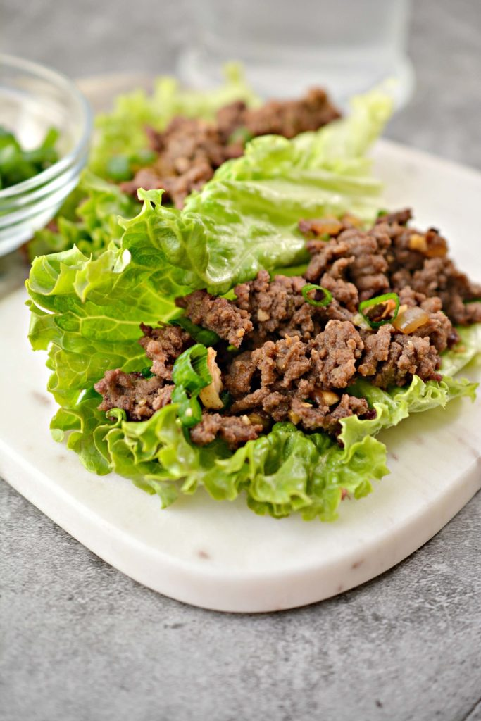 Easy beef lettuce wraps