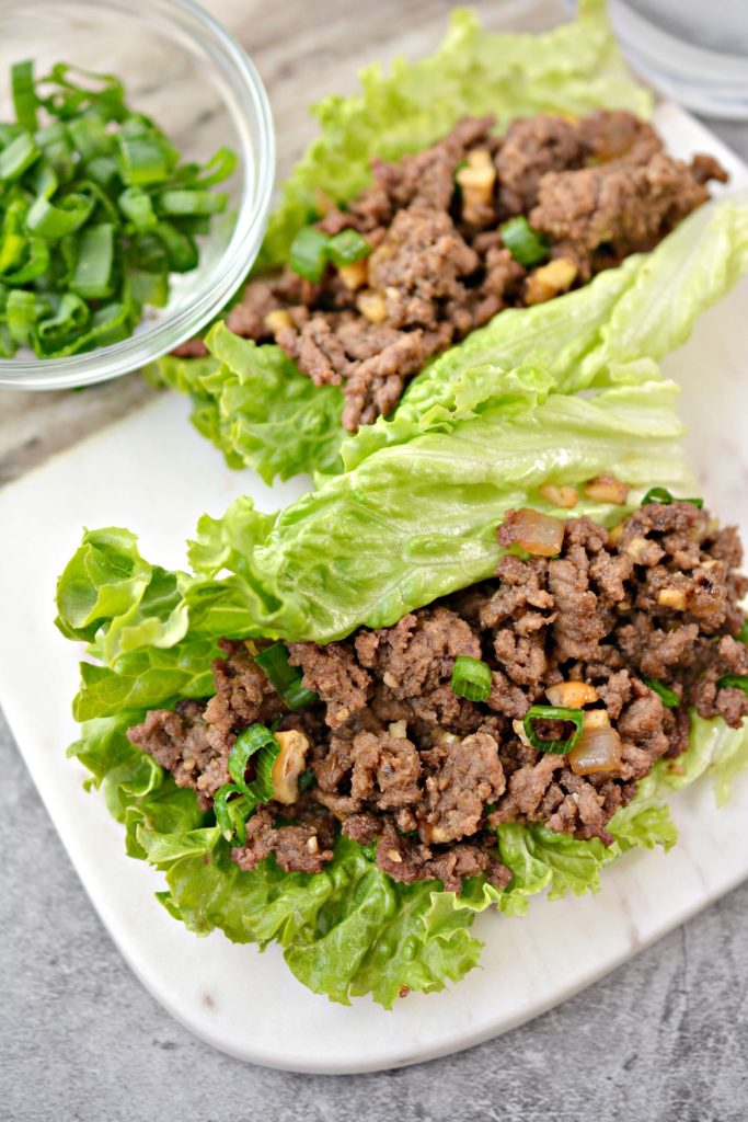Korean beef Asian wraps
