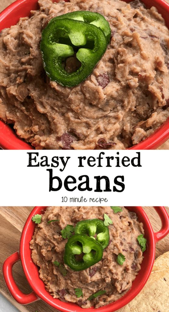 Easy refried bean recipe