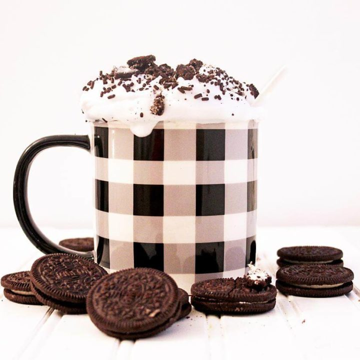 Cookies and cream latte