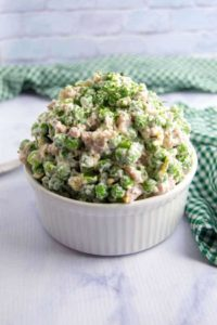 How to make creamy pea salad