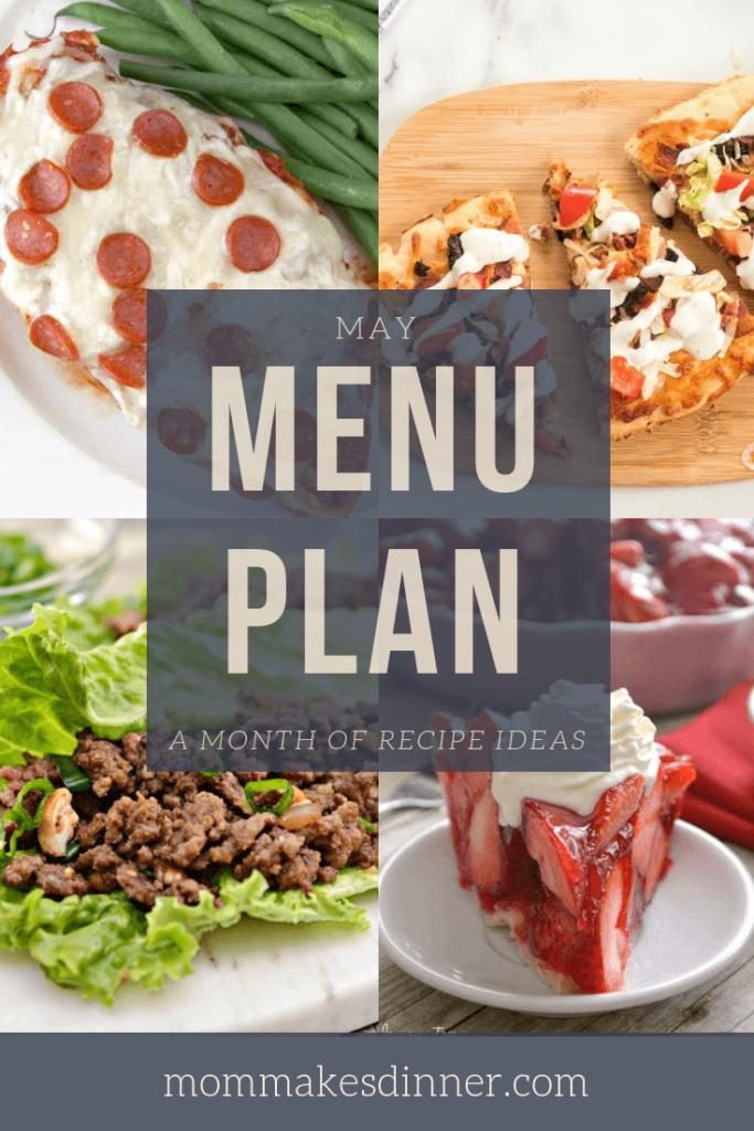 May menu plan full of recipe ideas