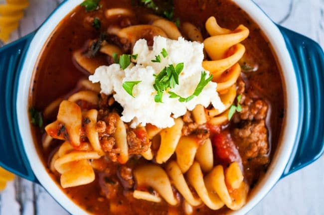 one pot lasagna soup recipe