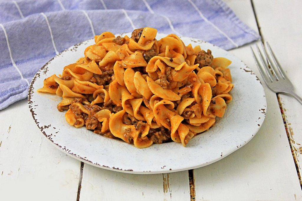 cheesy beef noodles