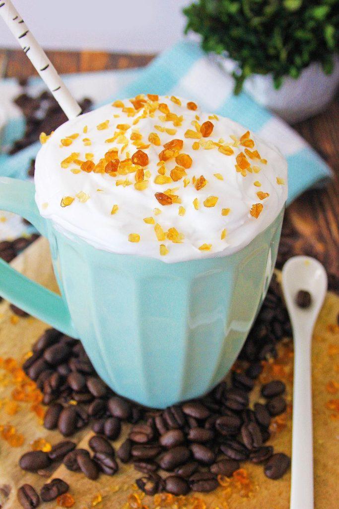easy caramel brulee latte