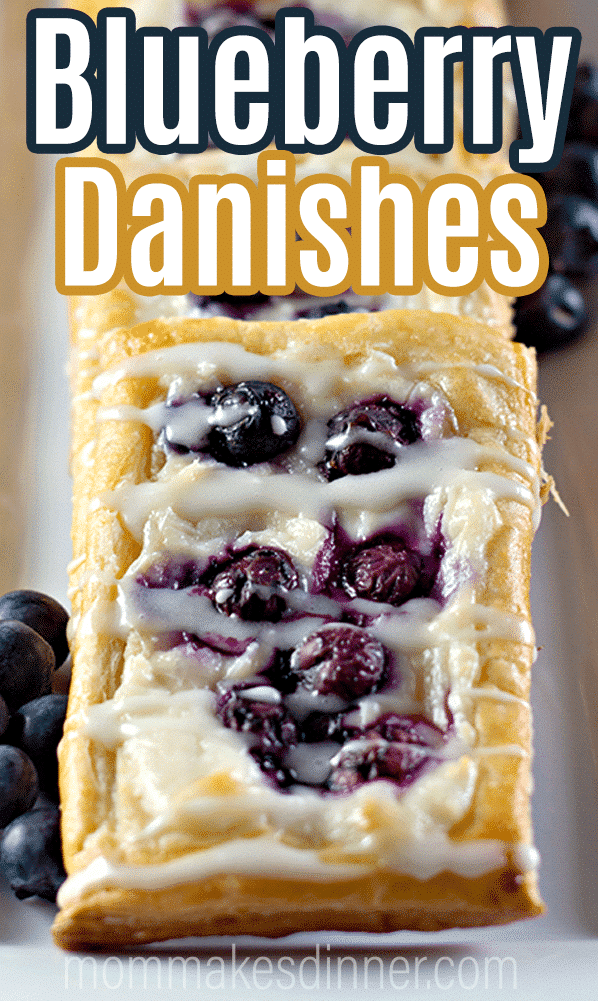 Easy blueberry danishes