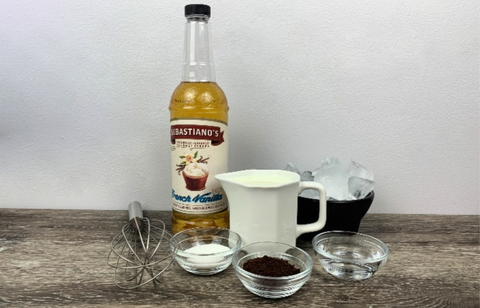fluffy vanilla whipped coffee