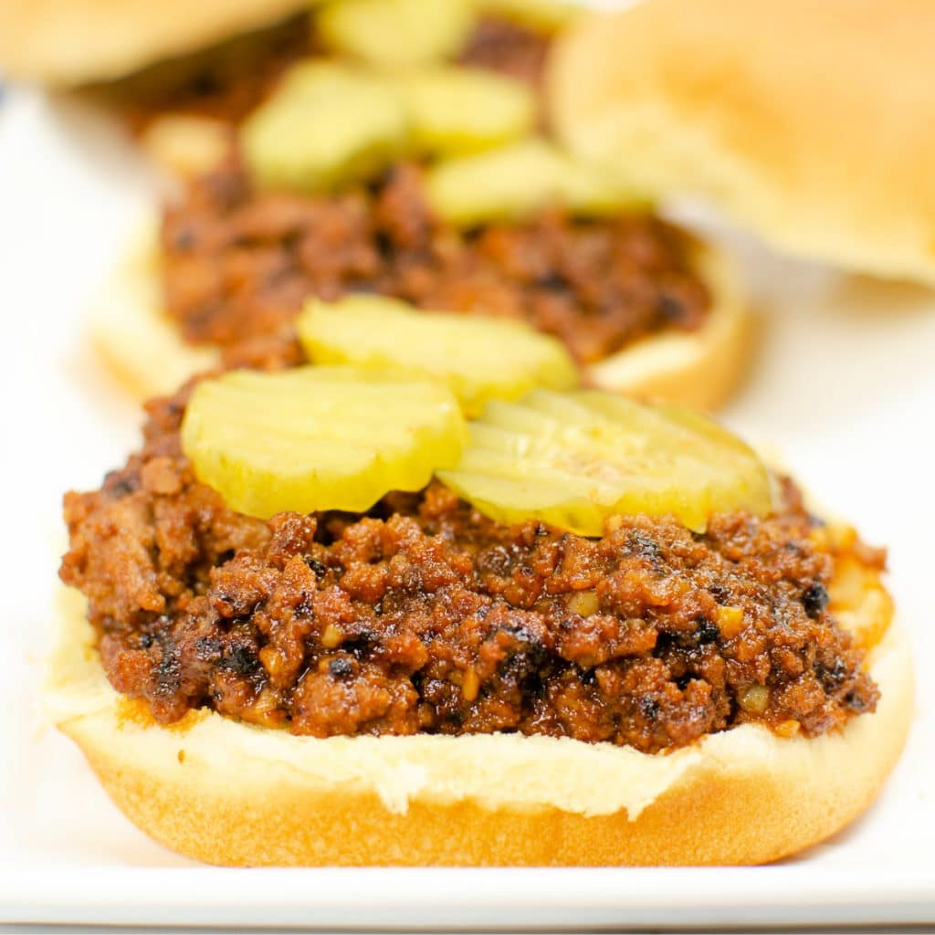 Homemade sloppy Joes with ketchup