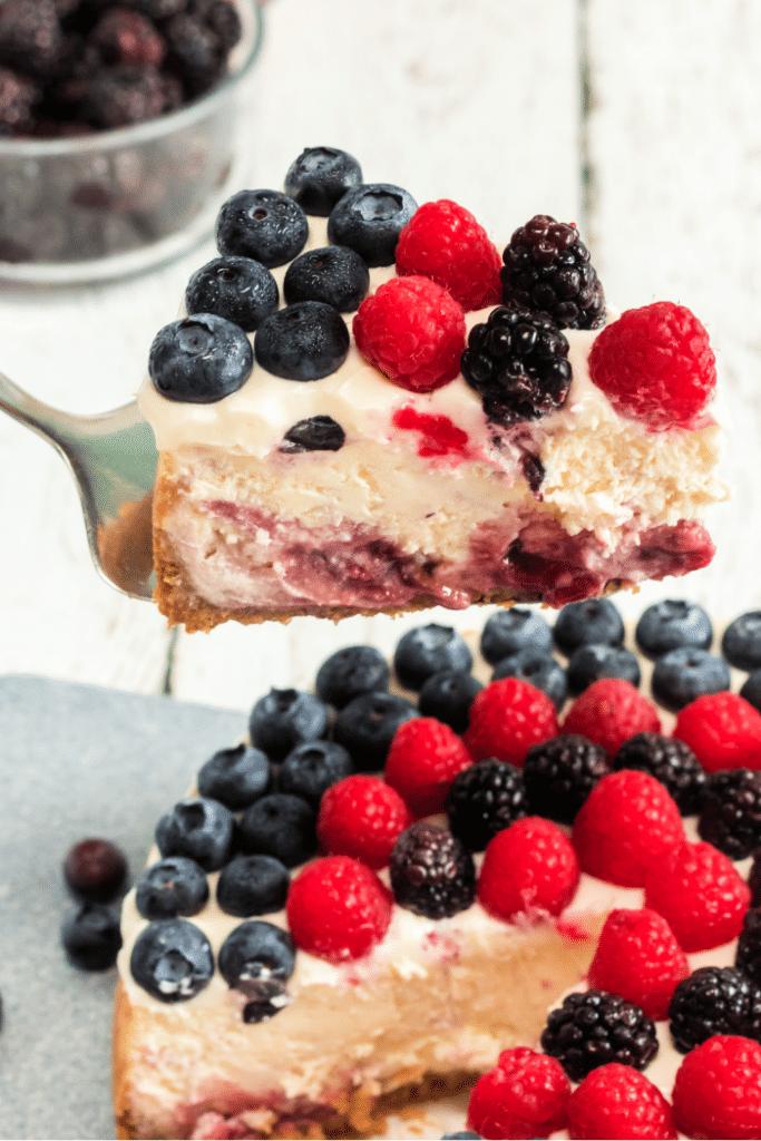 triple berry cheesecake