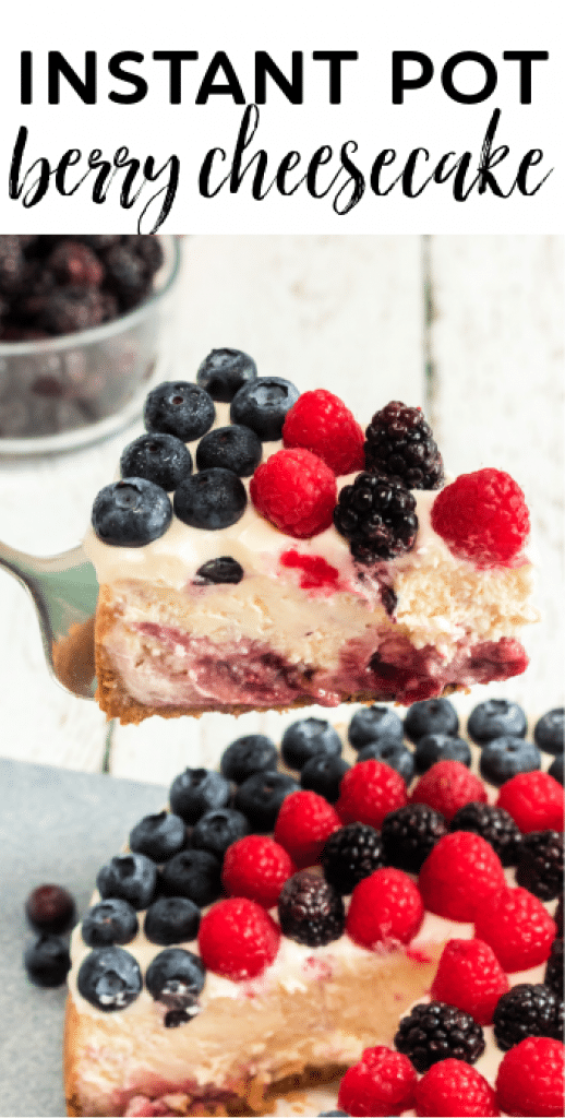 How to make a triple berry cheesecake in the Instant Pot