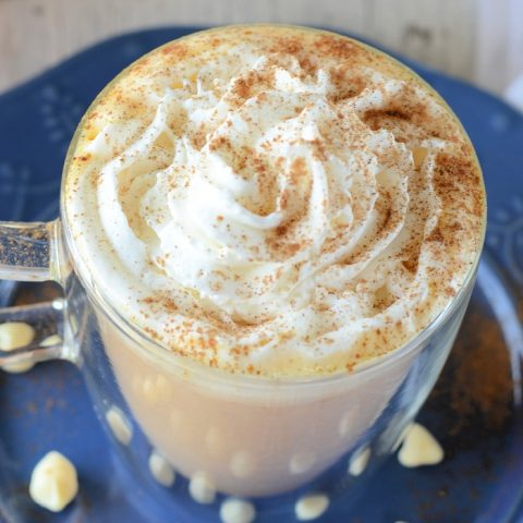 Easy stove top pumpkin white hot chocolate