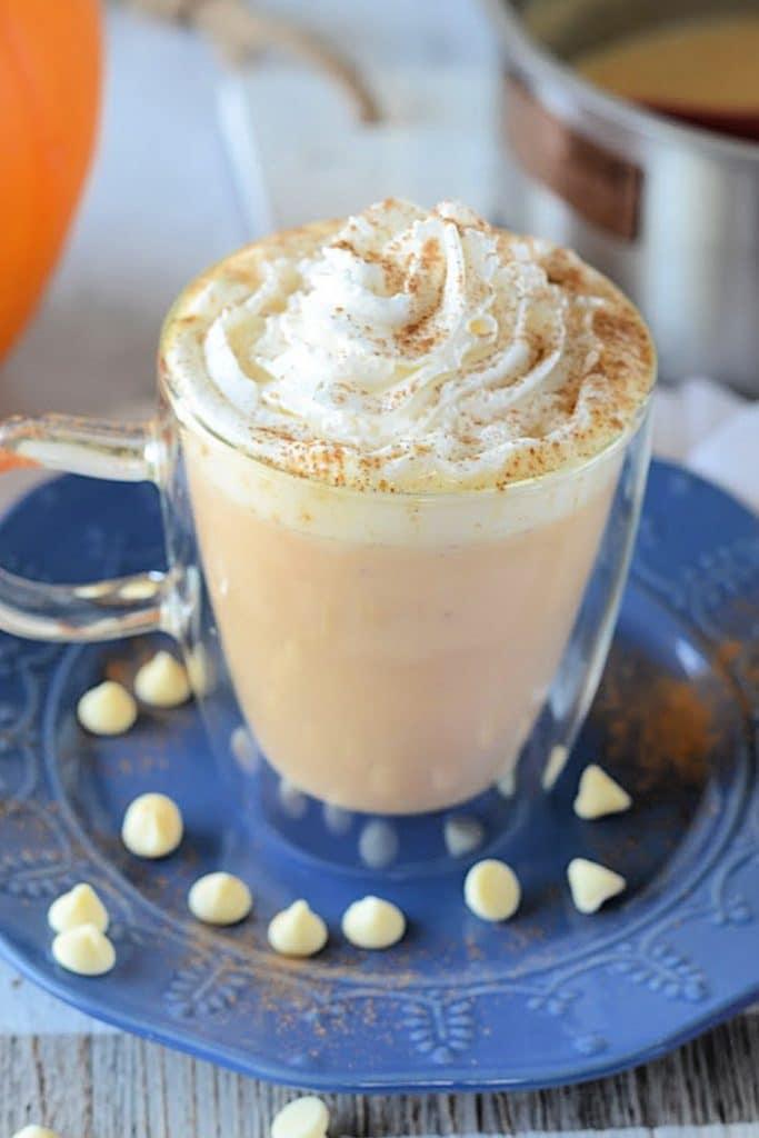 How to make a pumpkin white hot chocolate