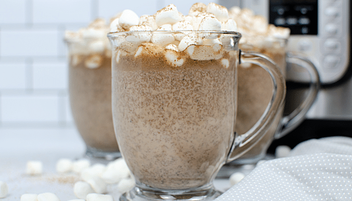Instant pot hot chocolate recipe or a starbucks zebra hot chocolate