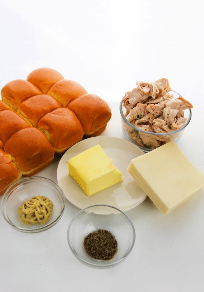 Leftover turkey slider ingredients