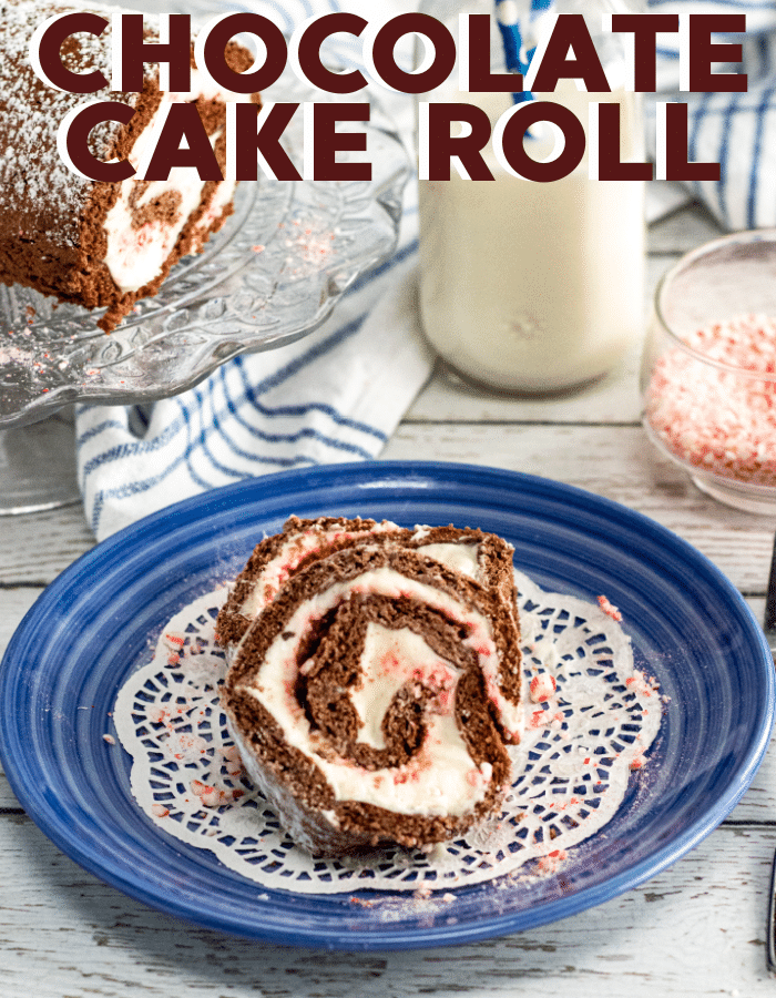 Peppermint chocolate cake roll(4)