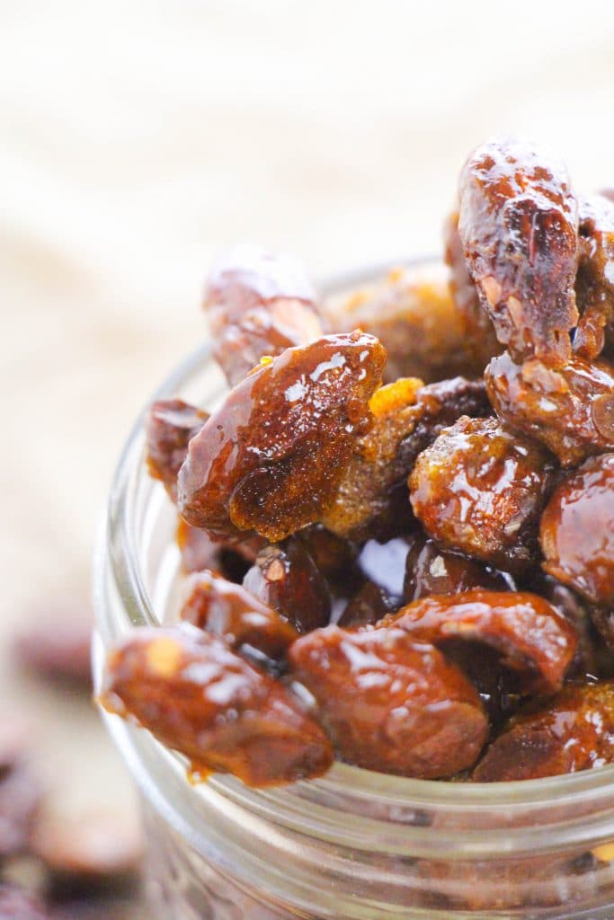 easy candied almonds with egg whites