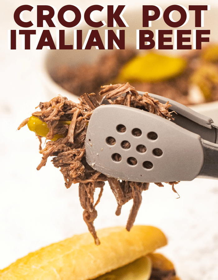 Crock pot Italian beef recipe