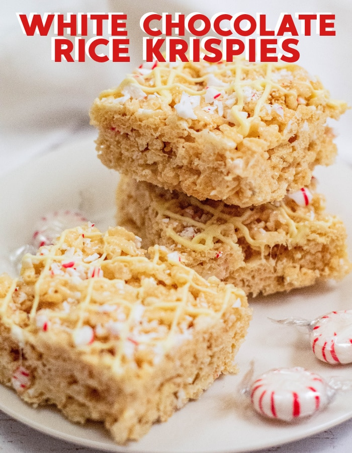 How to make white chocolate rice krispie treats with marshmallows