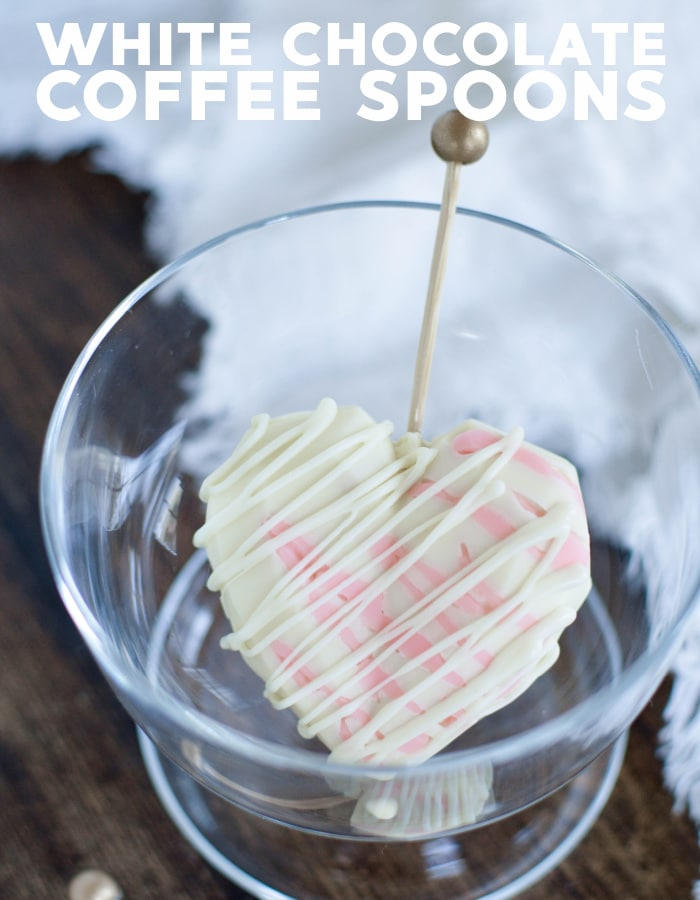 White chocolate coffee stirrers
