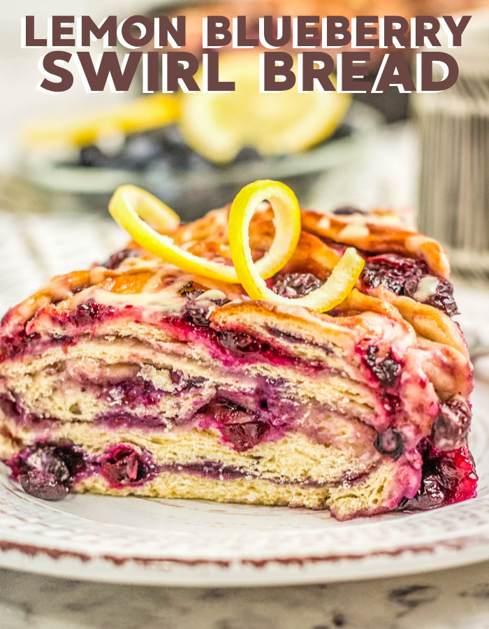 How to make lemon blueberry swirl bread