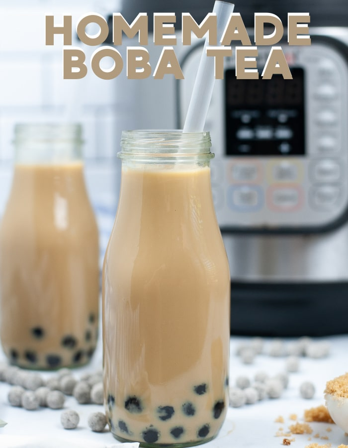 How to make homemade boba tea in your Instant pot! Stove top instructions included via @mommakesdinner