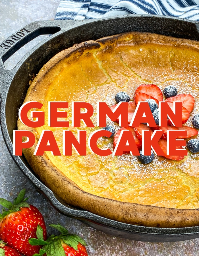 How to make a German pancake or a Dutch baby in a skillet