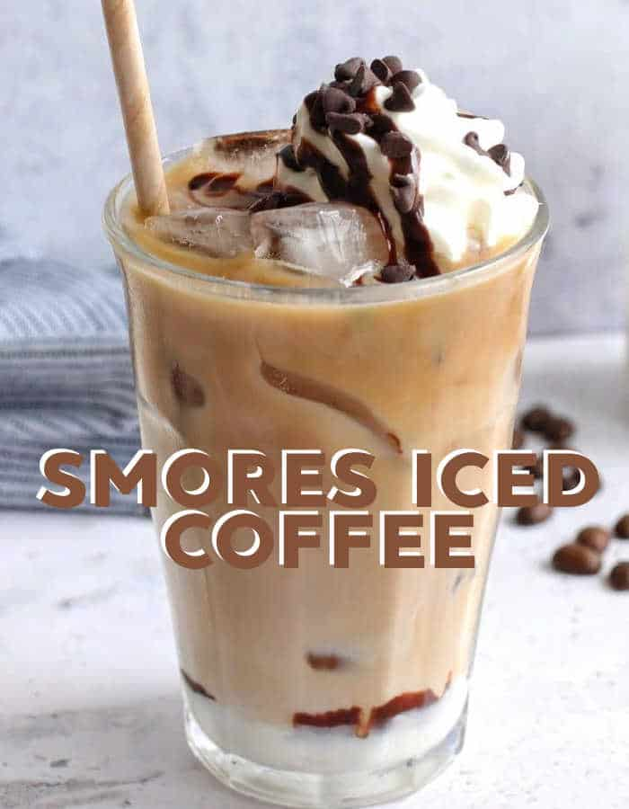 How to make a smores iced coffee complete with marshmallow topping