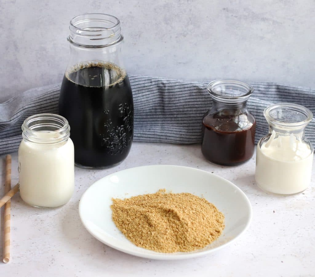 S'mores Iced coffee ingredients