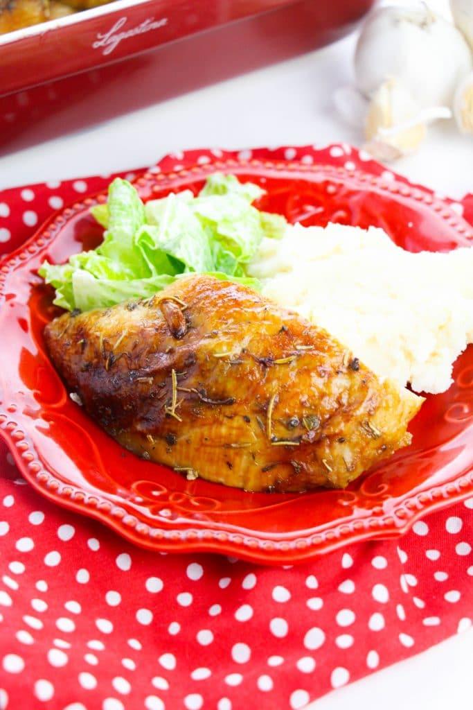 Delicious garlic butter roasted chicken (3)
