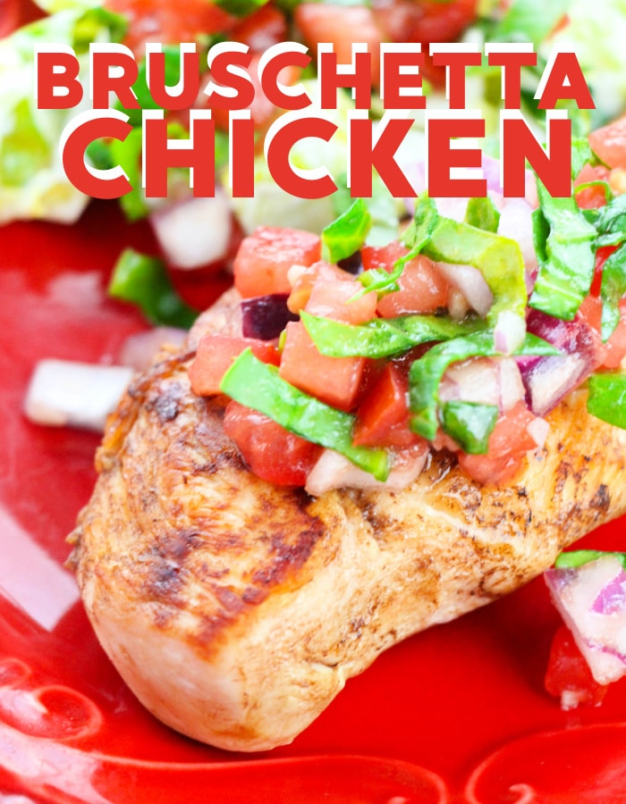 Easy bruschetta chicken recipe that it perfect for busy weeknights