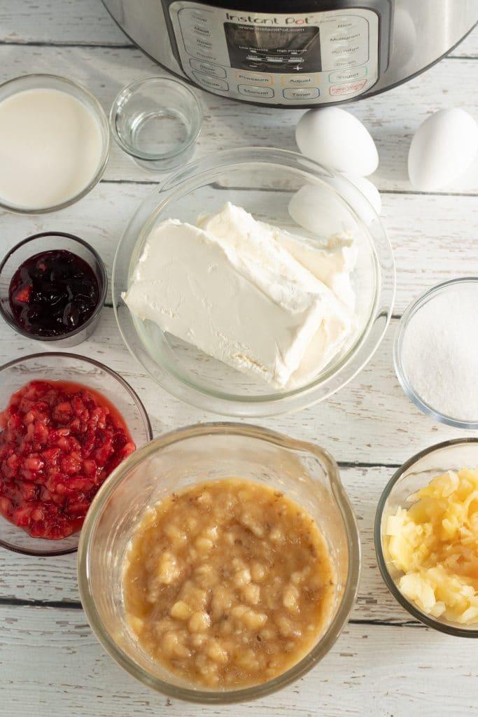 banana split cheesecake ingredients