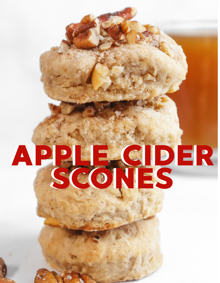 How to make flaky apple cider scones with real apple cider baked in
