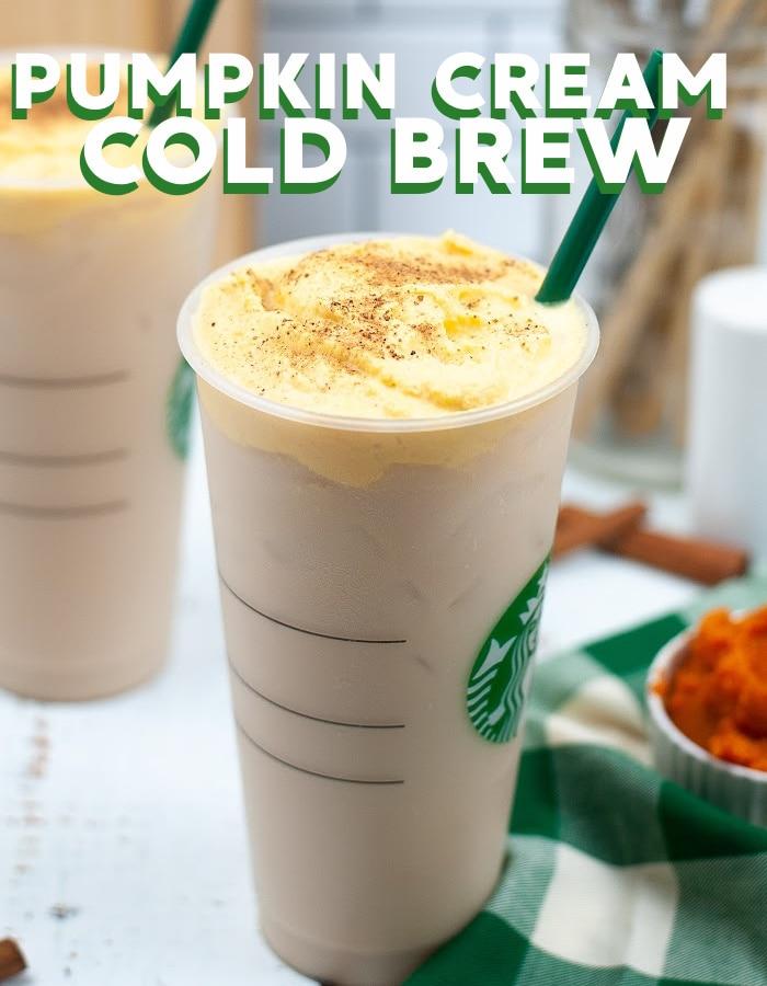 Make a copycat Starbucks pumpkin cream cold brew at home