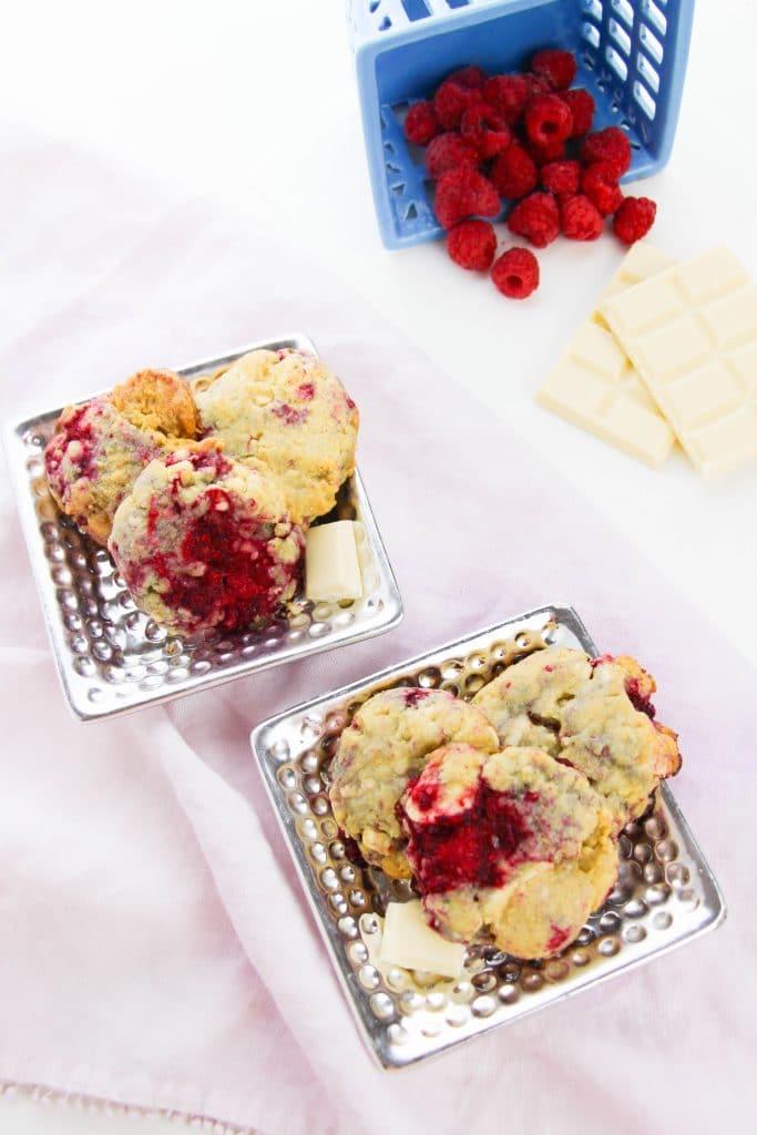 the best white chocolate raspberry cookies