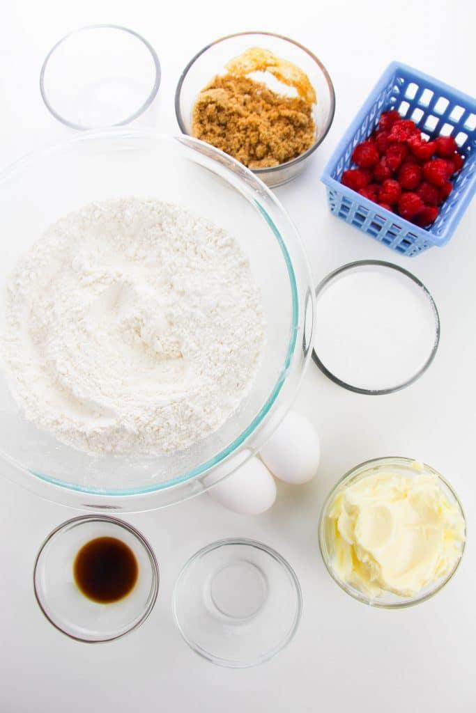 White chocolate raspberry cookie ingredients