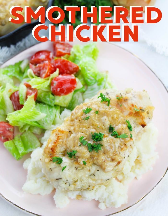 An easy dinner recipe smothered chicken breast