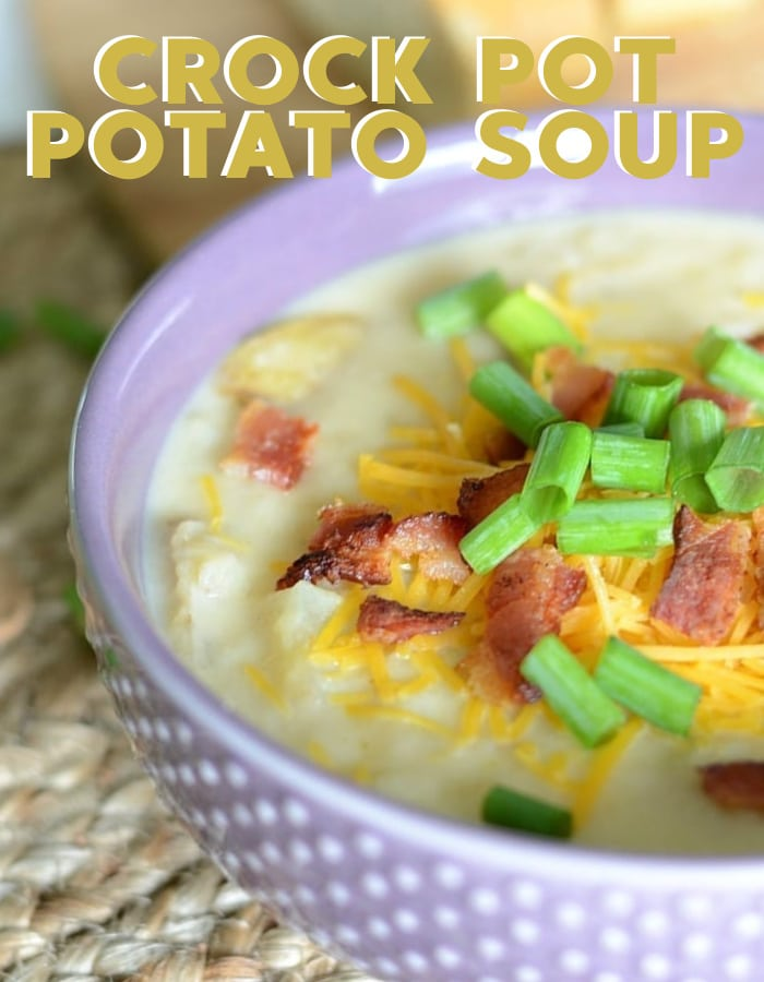 How to make the best loaded potato soup in the Crock Pot(1)